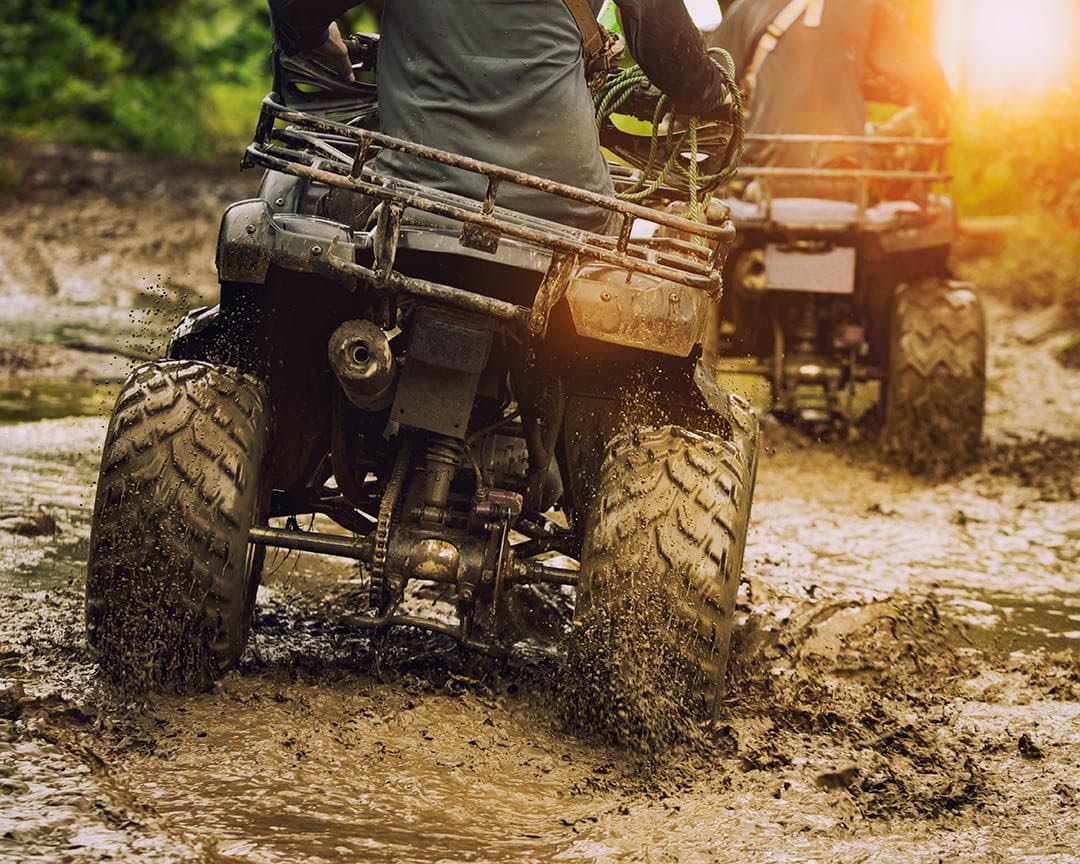 Riding ATV's in mud